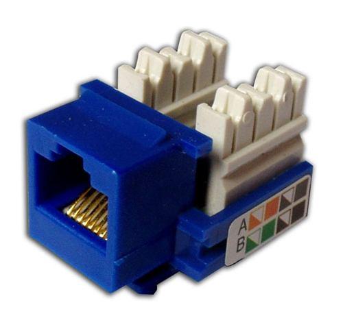 Modulo Keystone Cat5e Hembra Azul Netdepot Ltda